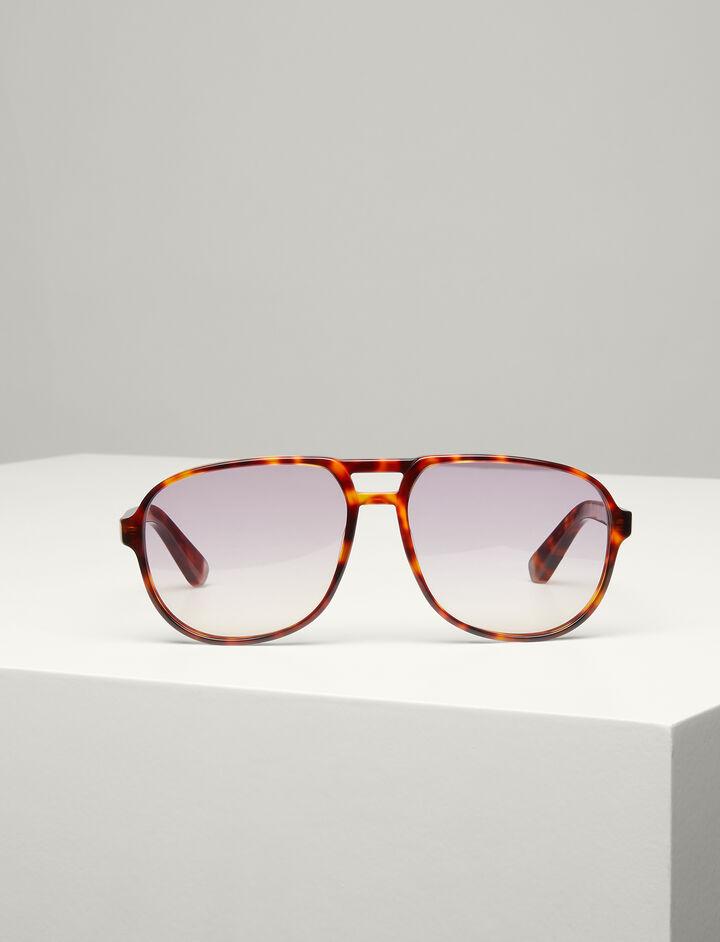 Joseph, Brompton Sunglasses, in LIGHT TORTOISE