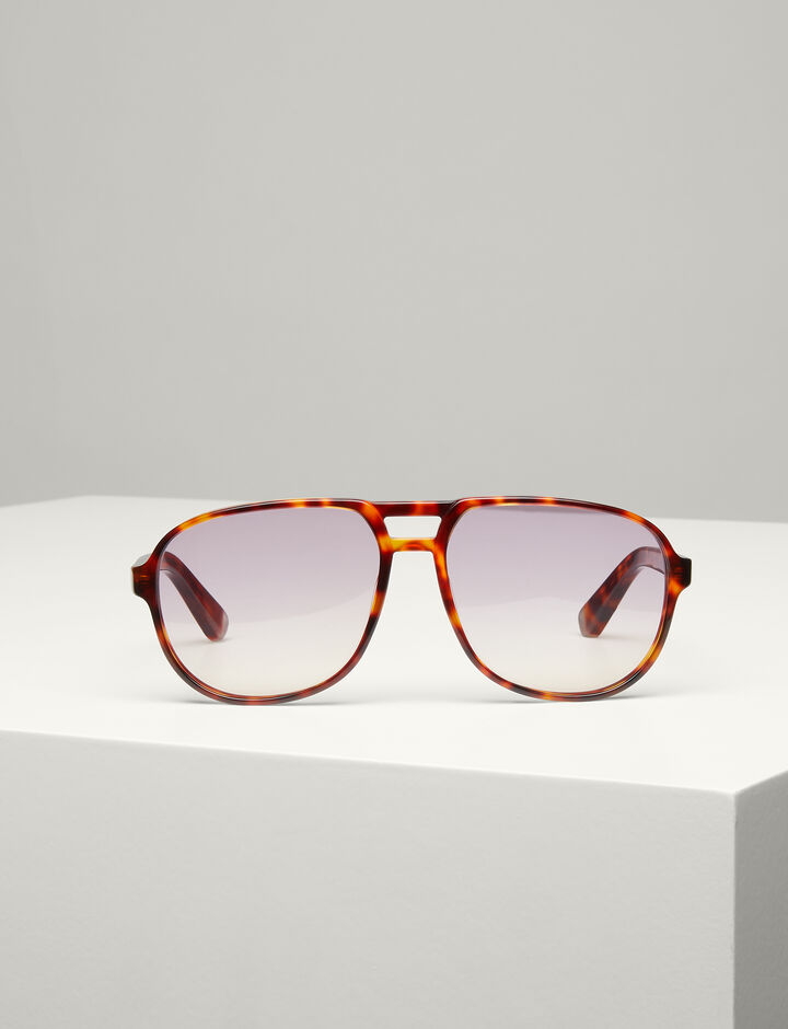 Joseph, Brompton Sunglasses, in LIGHT TORTOISE