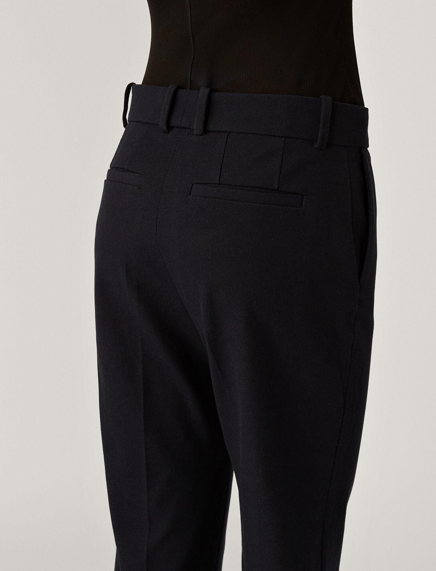 Joseph, Cole Gabardine Stretch Trousers, in NAVY