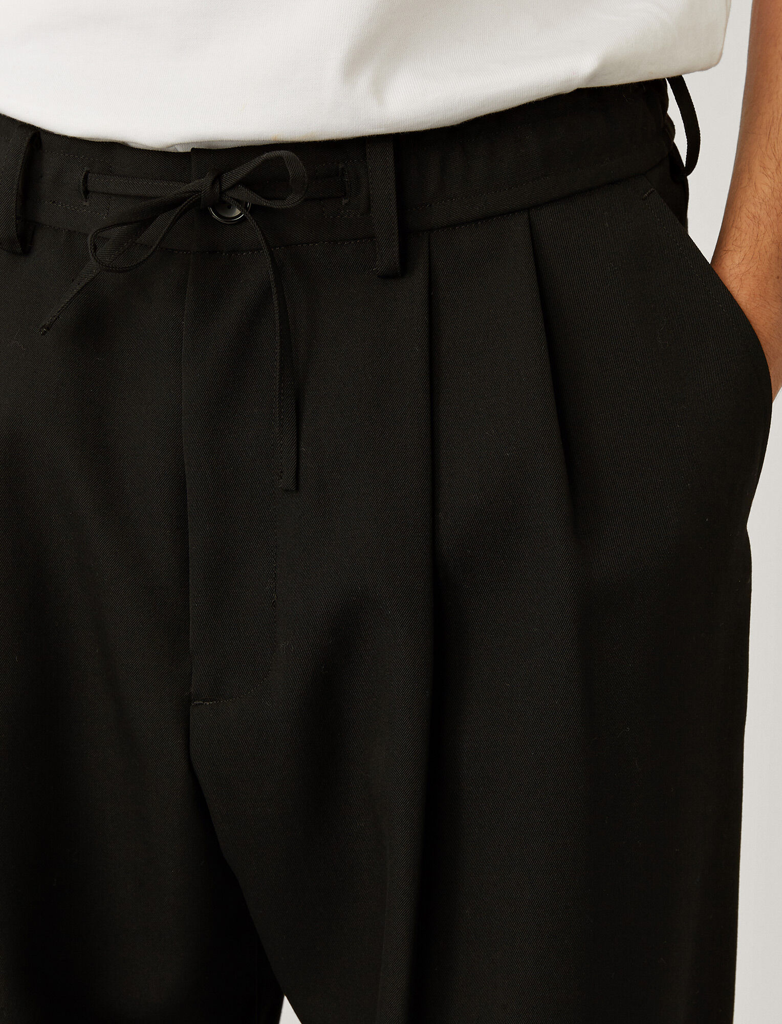 Joseph, Japanese Wool Trousers, in Black