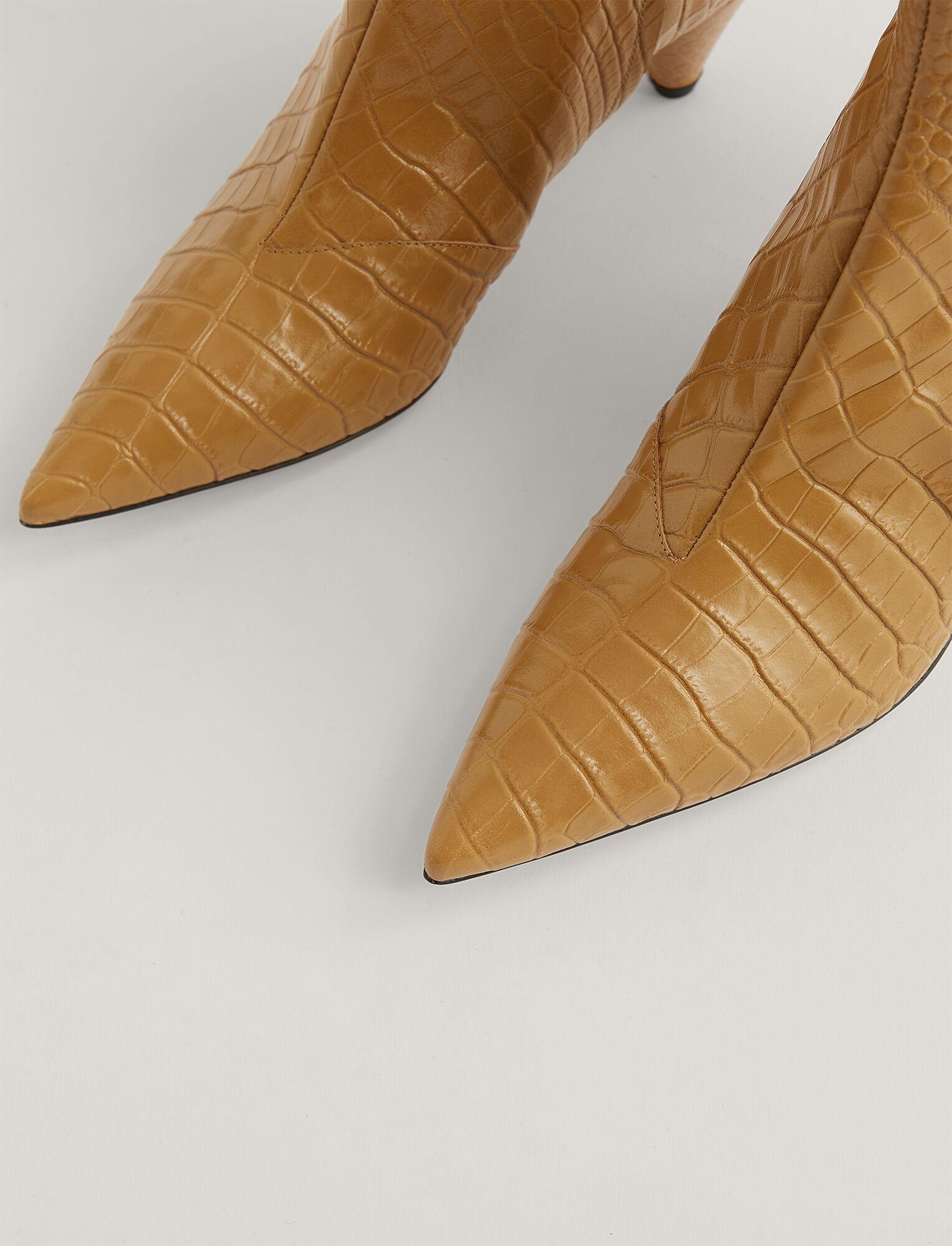 Joseph, Cone Heel Ankle Boot, in Dijon