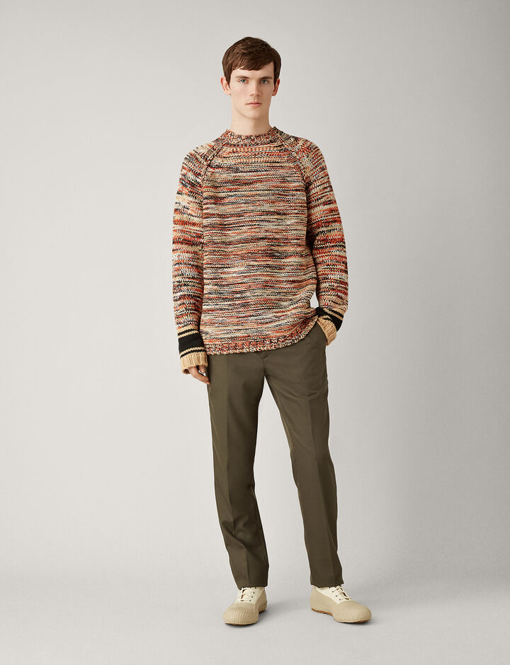 Joseph, O'Size Sweater Chunky Mouline Knit, in CAMEL COMBO