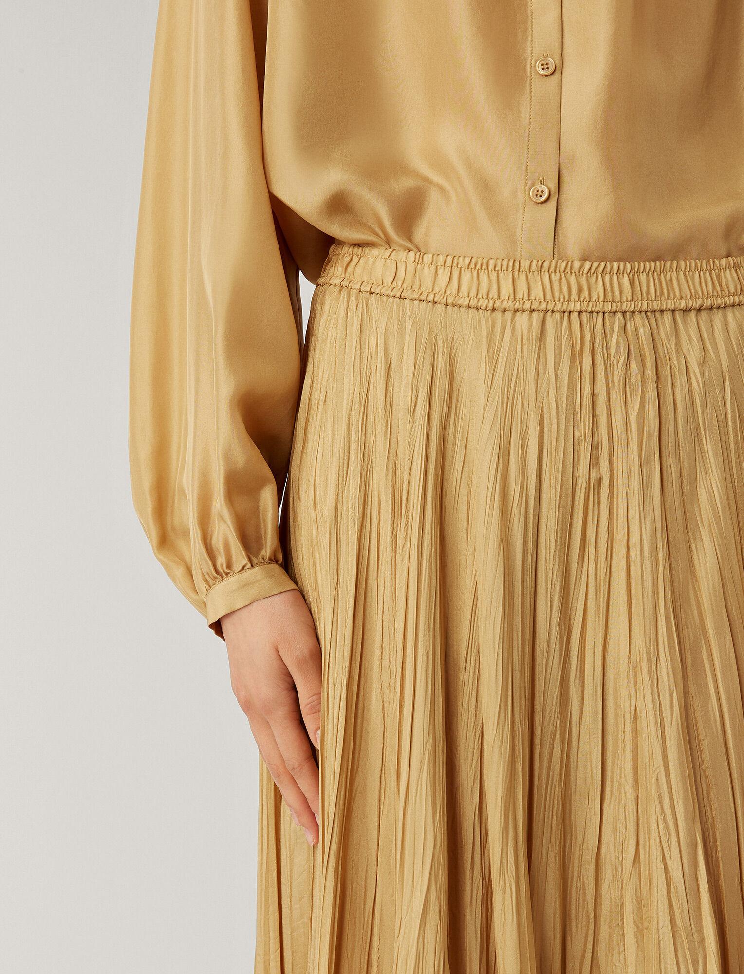 Joseph, Nanco Silk Habotai Skirt, in CHAI