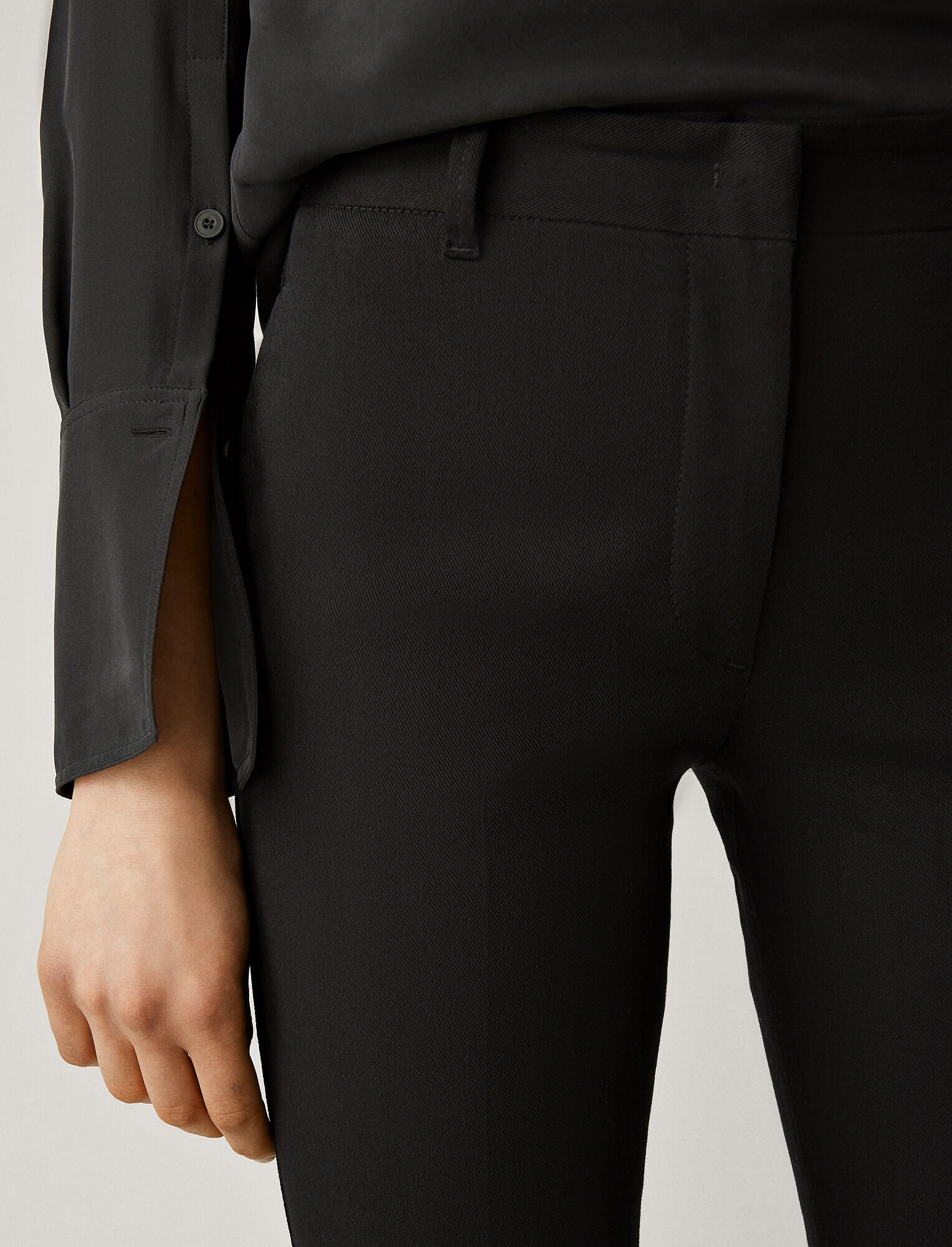 Joseph, Zoom Drill Stretch Trousers, in BLACK