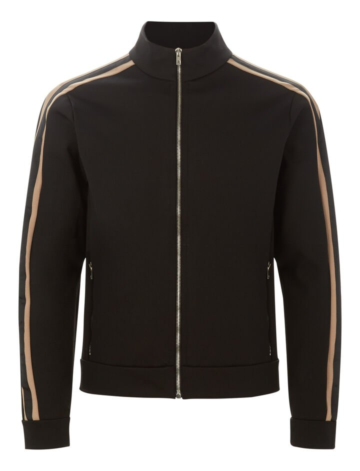 Joseph, Technical Jersey Tracktop, in BLACK