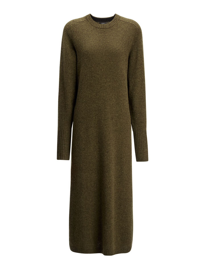 Joseph, Pure Wool Knit Jo Dress, in ARMY