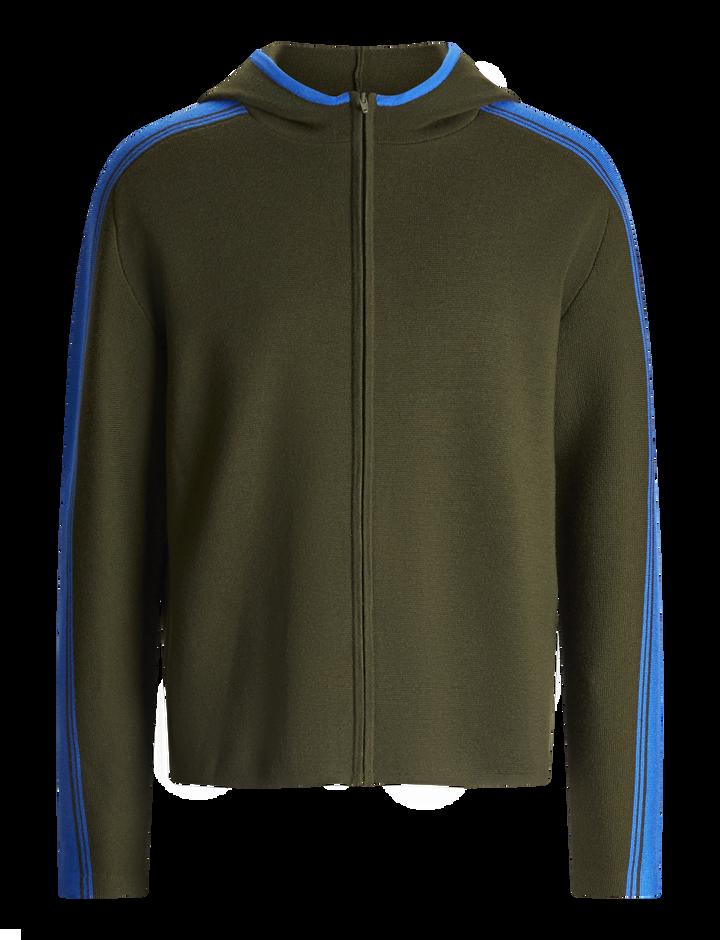 Joseph, Sportwear Milano Knit Hoody, in MILITARY