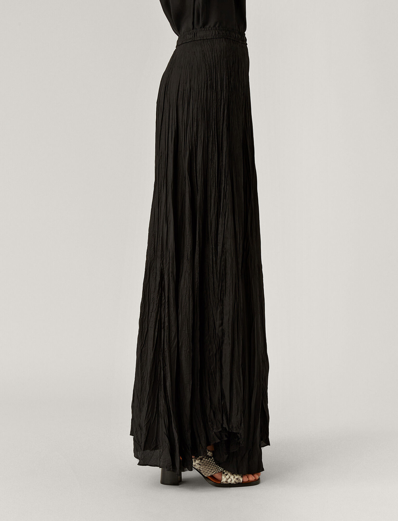 Joseph, Nanco Silk Habotai Skirt, in BLACK