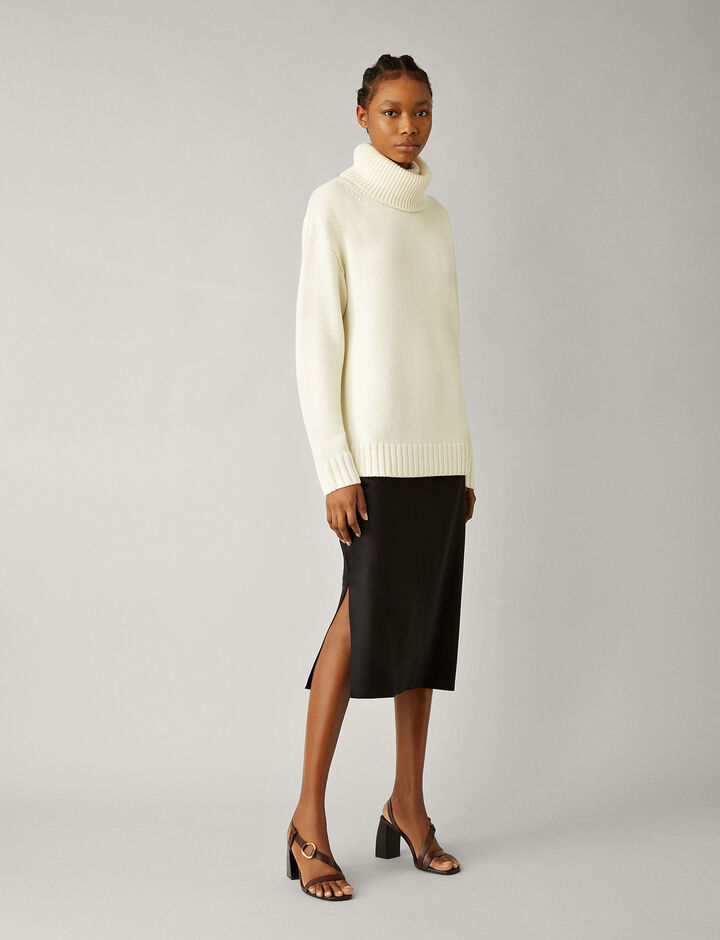 Joseph, O'size Sloppy Joe Knit, in CREAM