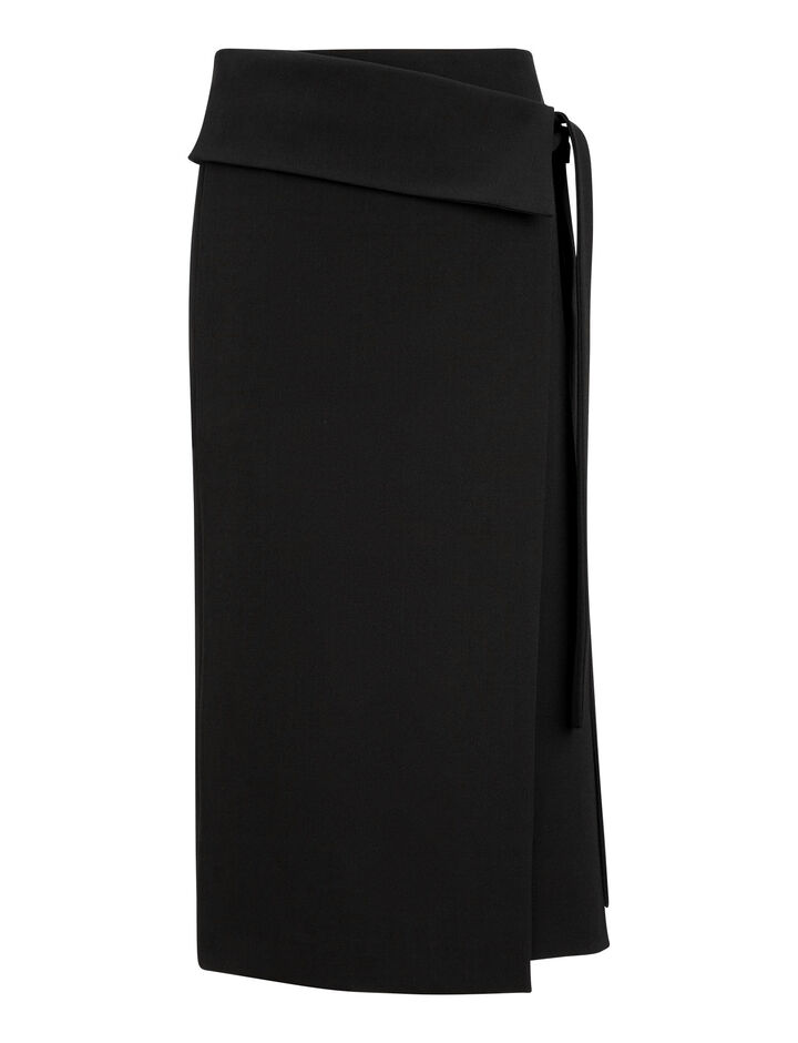 Joseph, Finch Comfort Wool Skirt, in BLACK