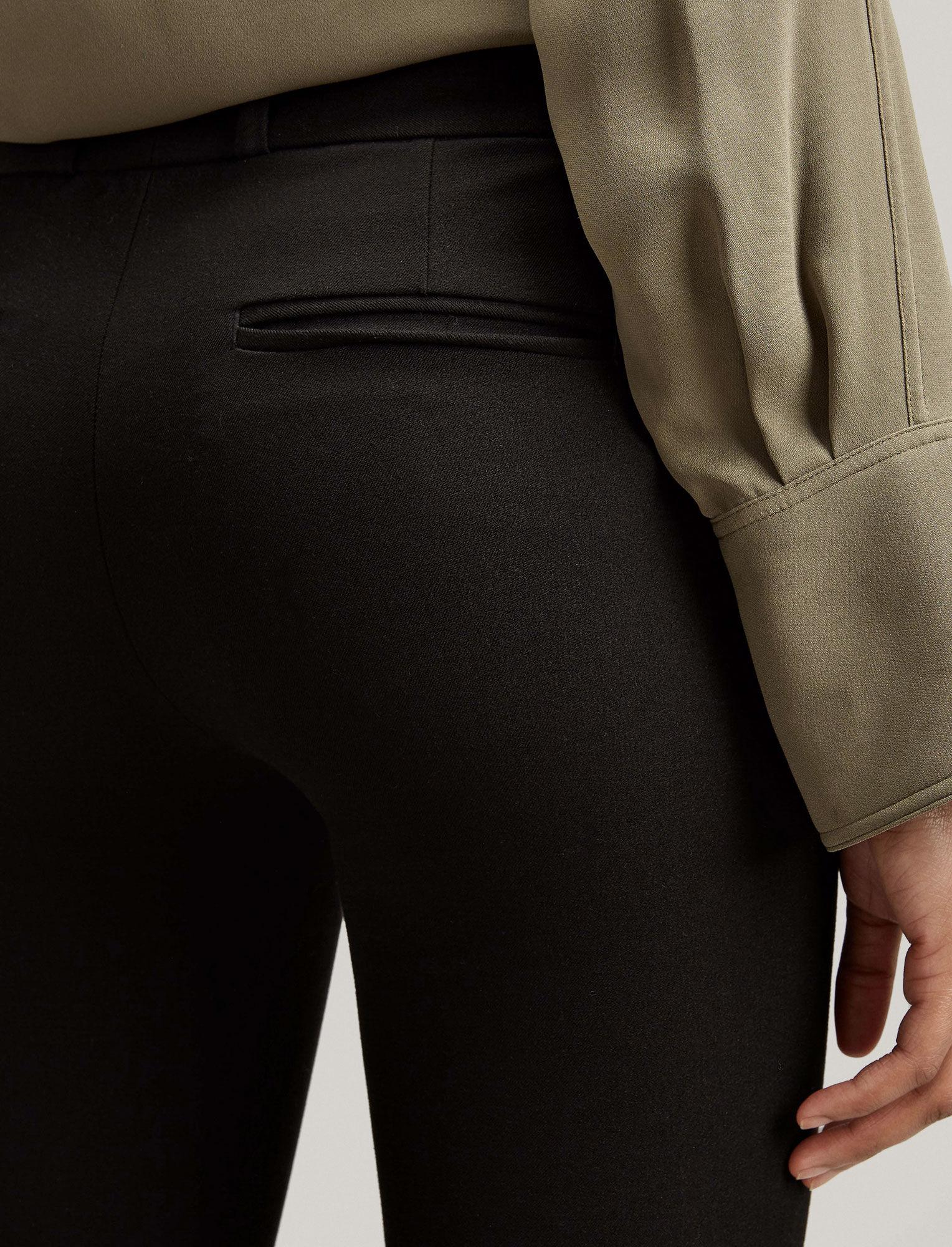 Joseph, Gabardine Stretch New Rocket Trouser, in BLACK