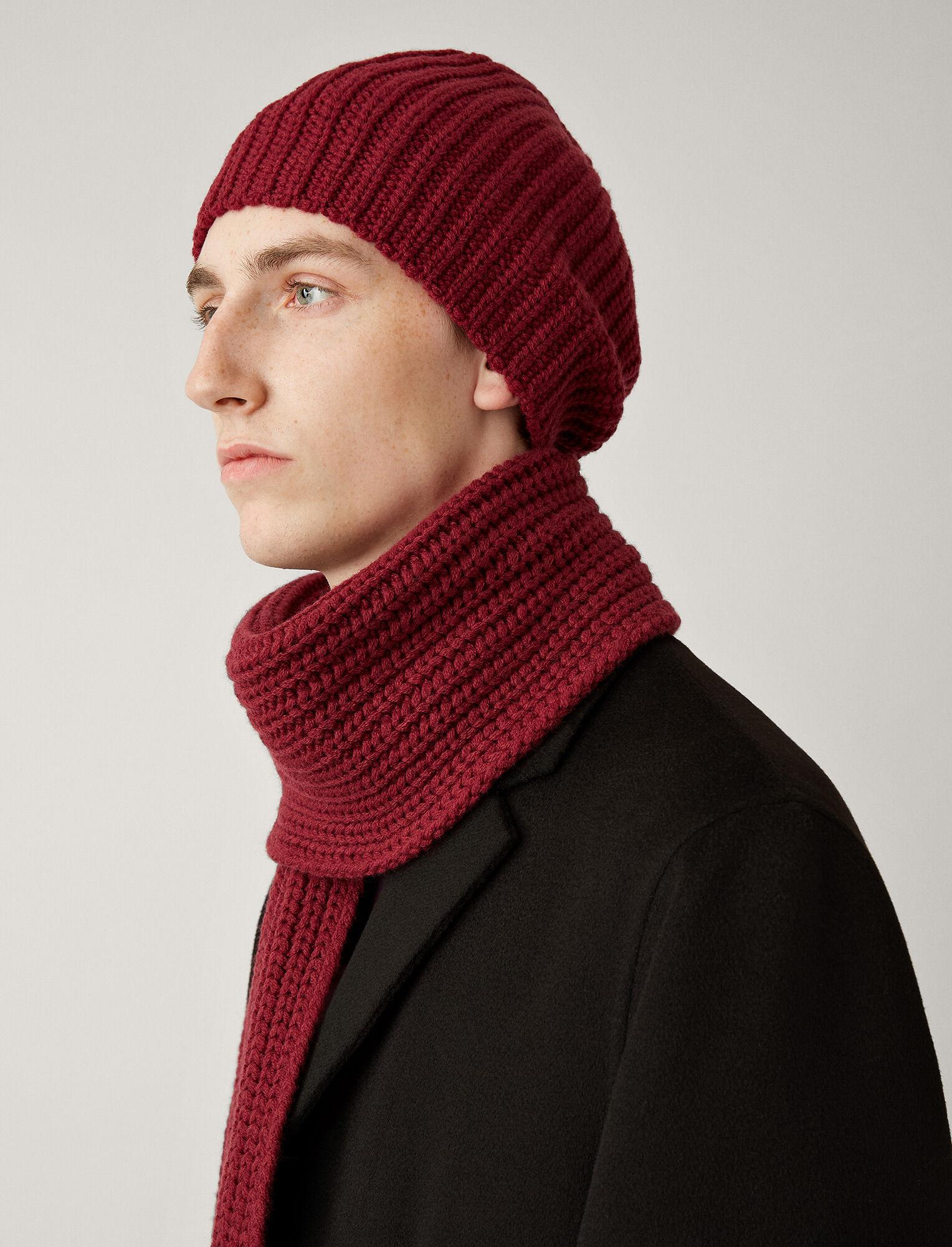 Joseph, Hat Soft Wool Knit, in GARNET