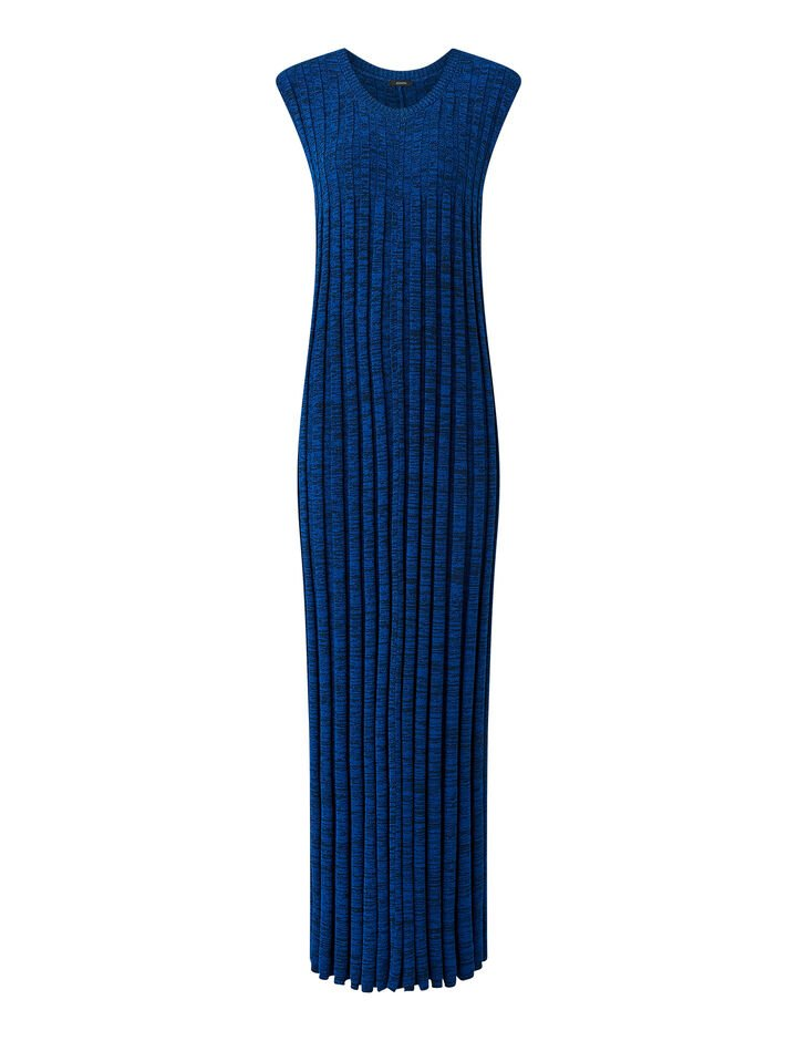 Joseph, Textured Rib Dress, in COBALT BLUE