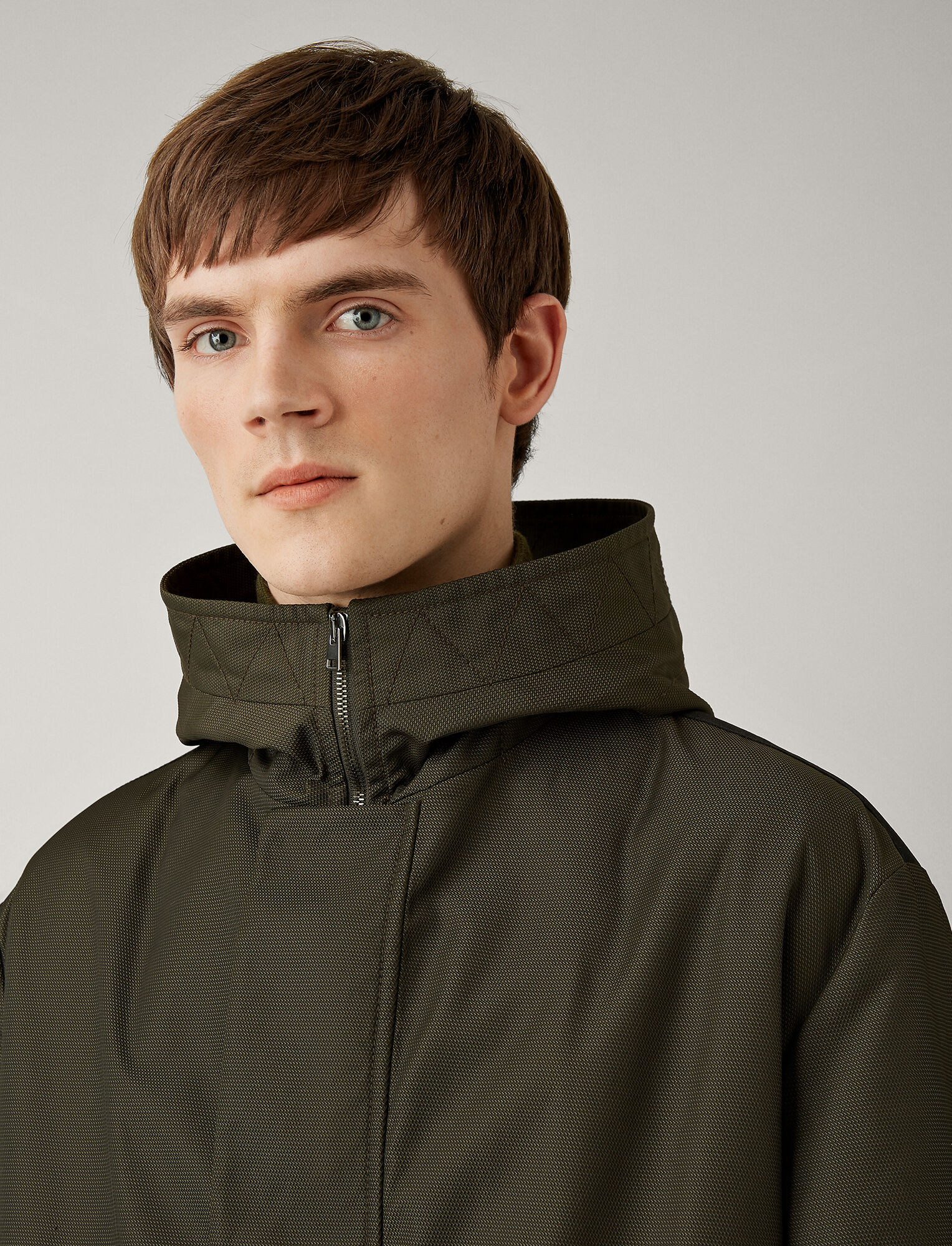 Joseph, Aspin Textured Nylon Coat, in FOREST
