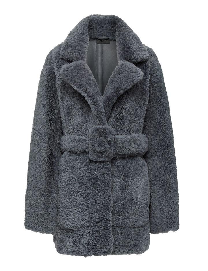 Joseph, Soft Merino Clover Coat, in Shadow