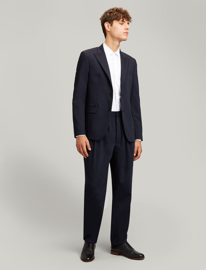Joseph, Cannes Fine Comfort Wool Blazer, in NAVY