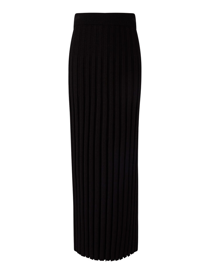 Joseph, Skirt-Textured Rib, in BLACK