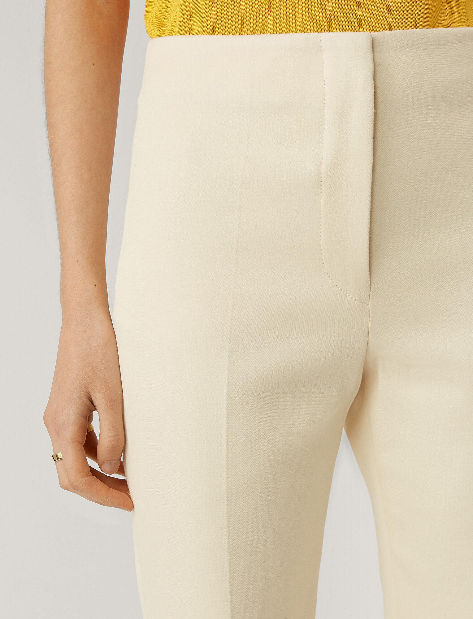 Joseph, Tavi Cotton Sateen Trousers, in CREAM