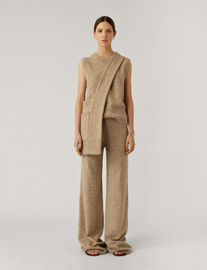 Joseph, Pants Tweed Knit Trousers, in Blush