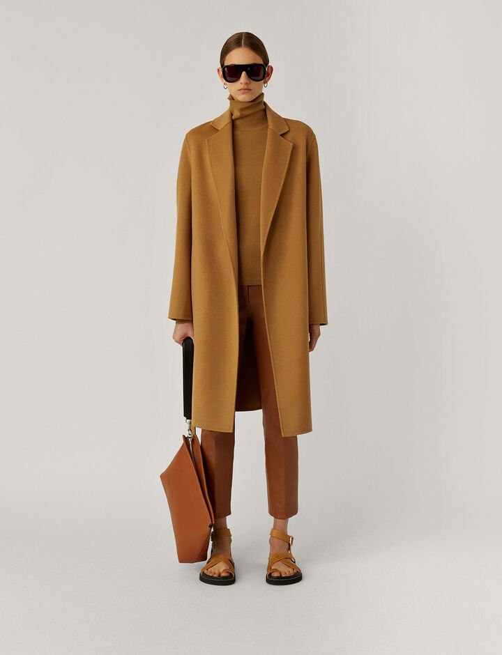 Joseph, Cenda Long-Dbl Face Cashmere, in CAMEL
