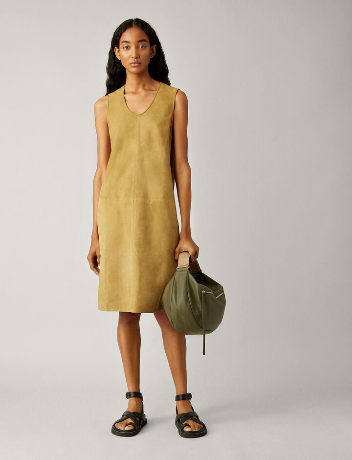 Joseph, Patty Suede Dress, in KHAKI