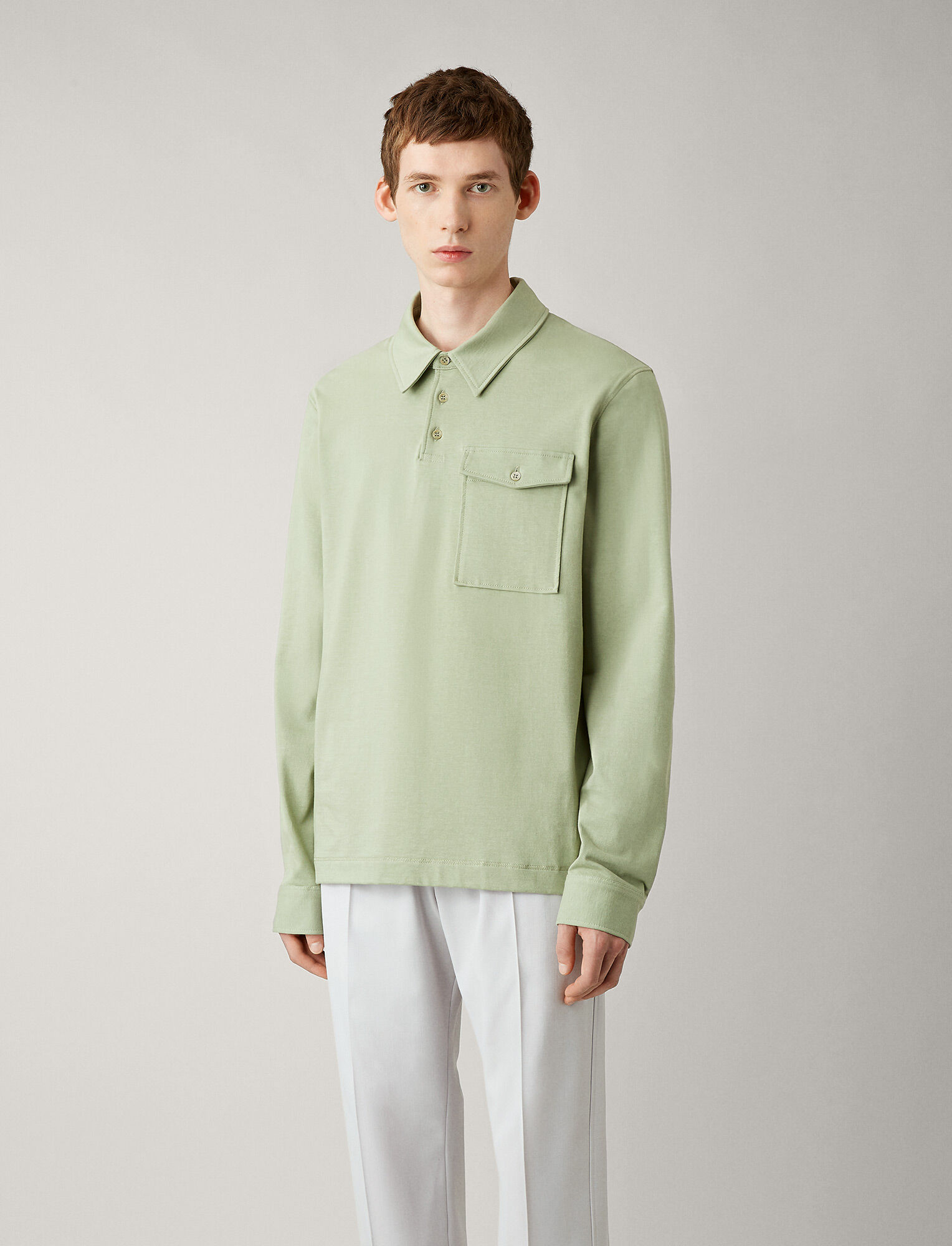 Joseph, Polo Heavy Jersey Tee, in KHAKI