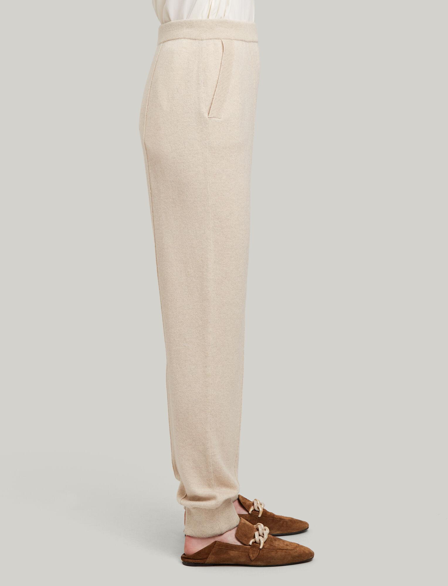 Joseph, Oversize Jog Mongolian Cashmere Trousers, in BEIGE CHINE