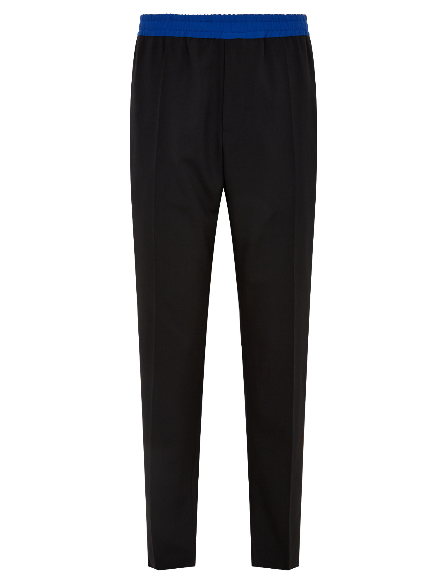 Joseph, Eza Techno Wool Stretch Tricolours Trousers, in BLACK COMBO
