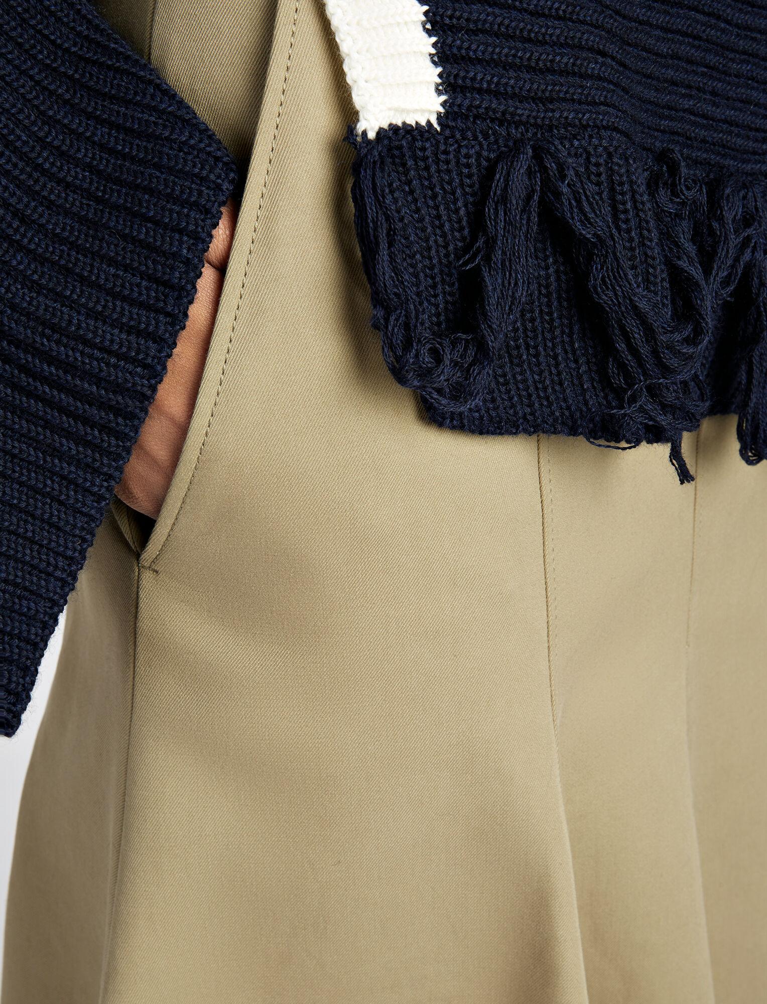 Joseph, Cotton Silk Laurel Skirt, in SAND