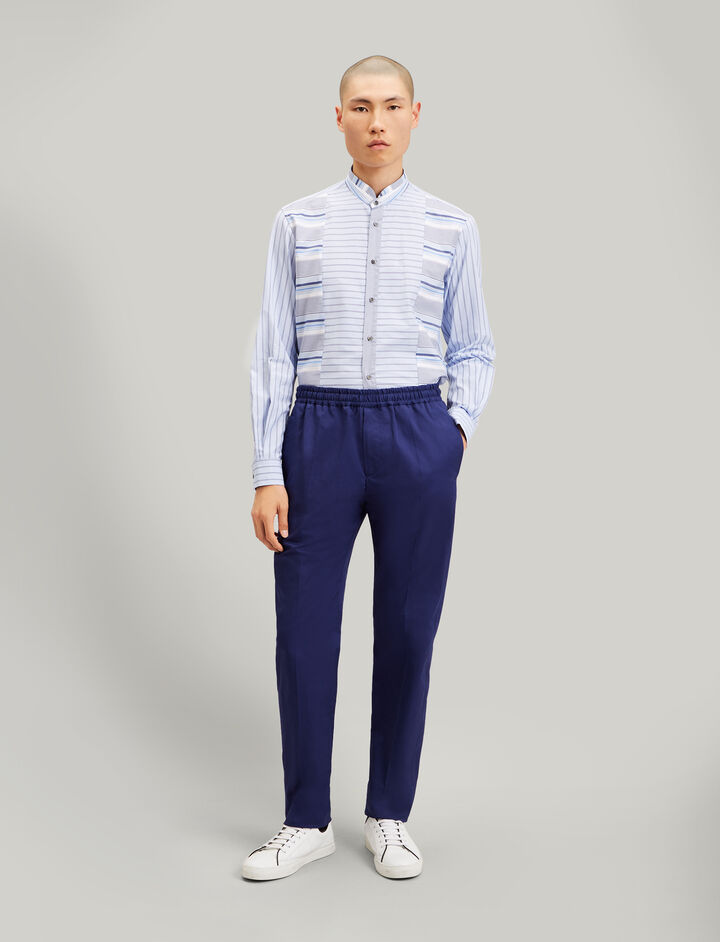 Joseph, Ettrick Fine Gabardine Stretch Trousers, in INDIGO
