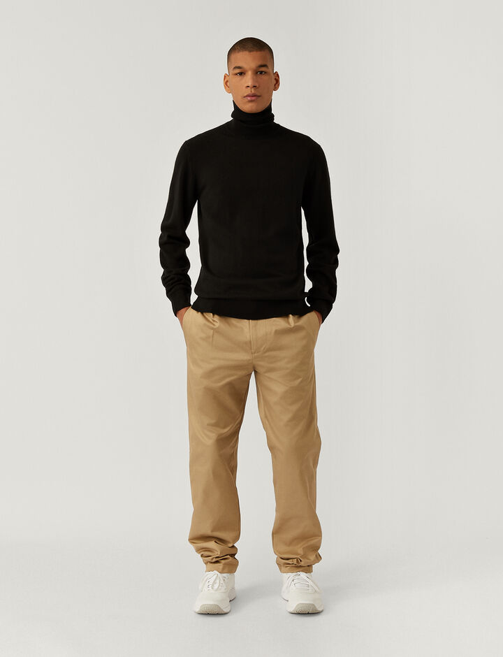 Joseph, Pure Cashmere Roll Neck Jumper, in BLACK