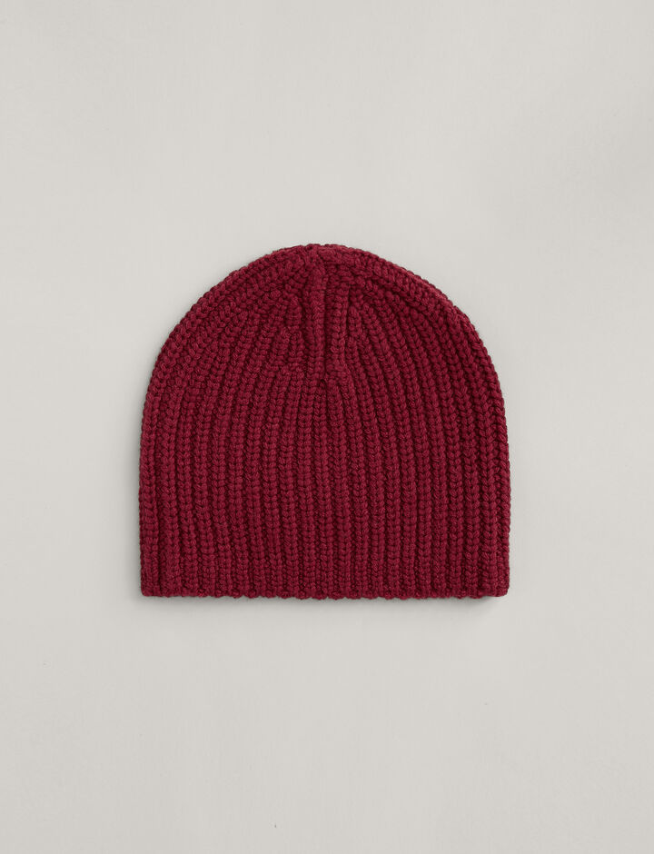 Joseph, Hat Soft Wool Knit, in GARNET