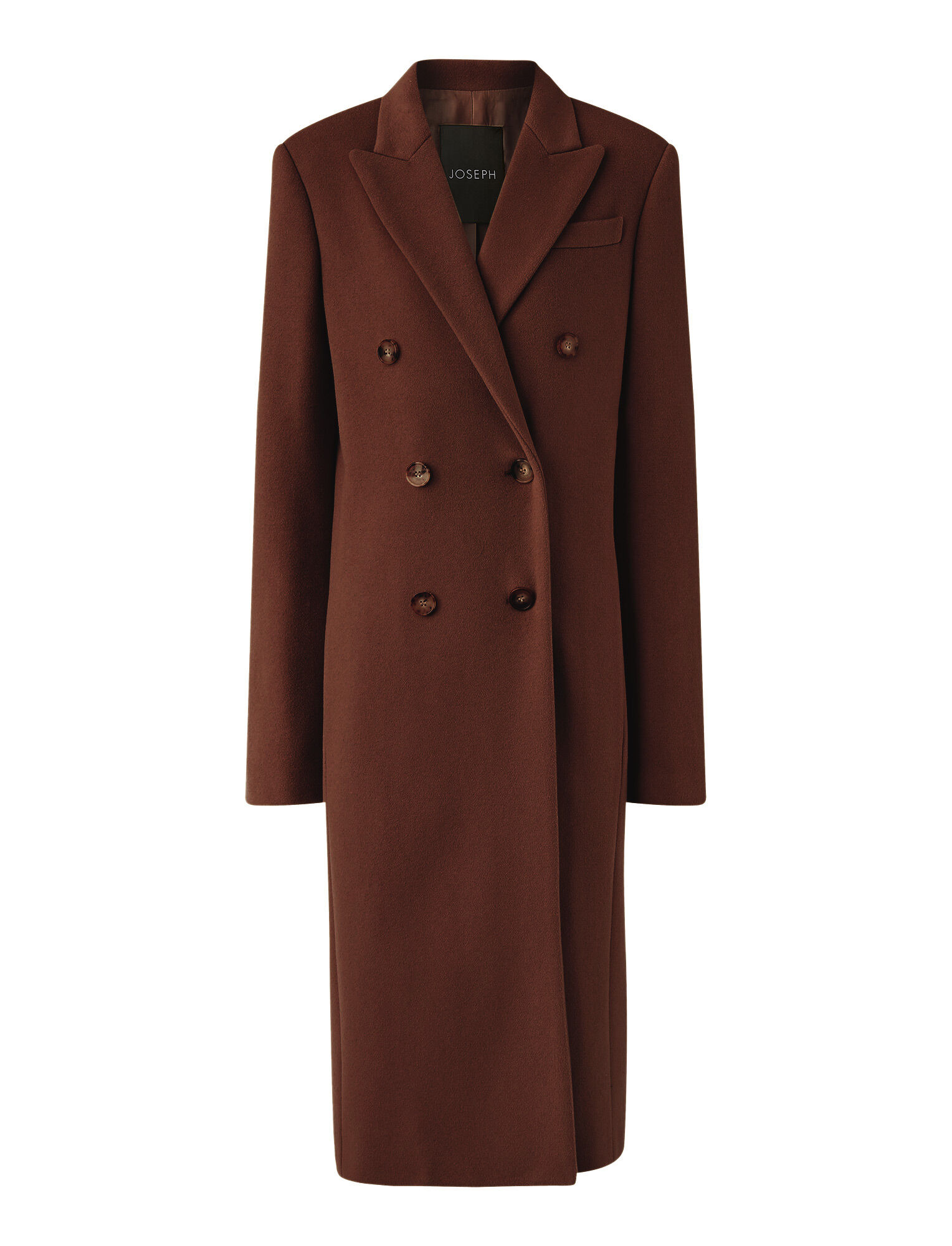 Joseph, Cam Wool Coating Coat, in Ganache