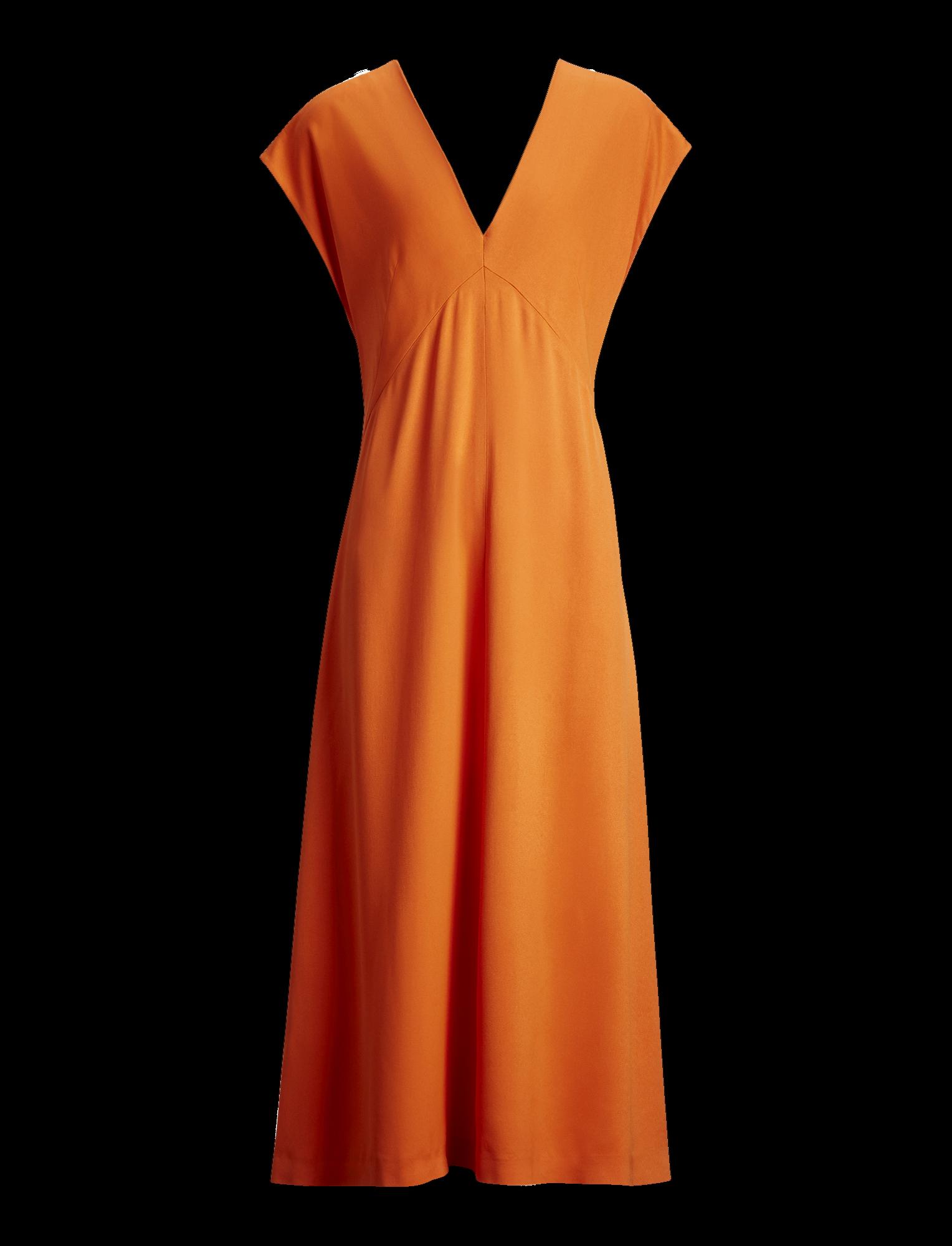 Joseph, Sienna Light Cady Dress, in CARNELIAN