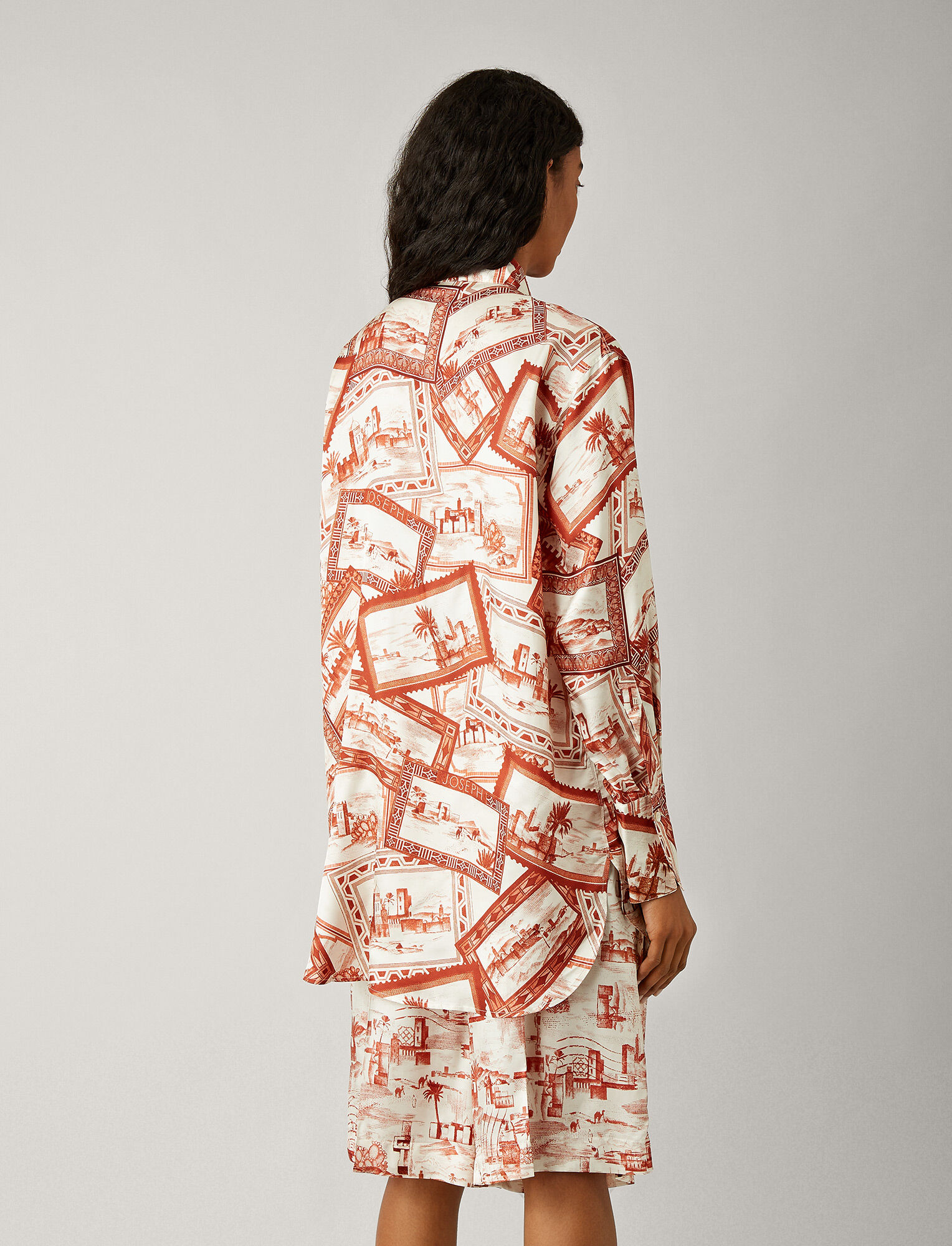 Joseph, Dawson Big Stamp Print Blouse, in RUST