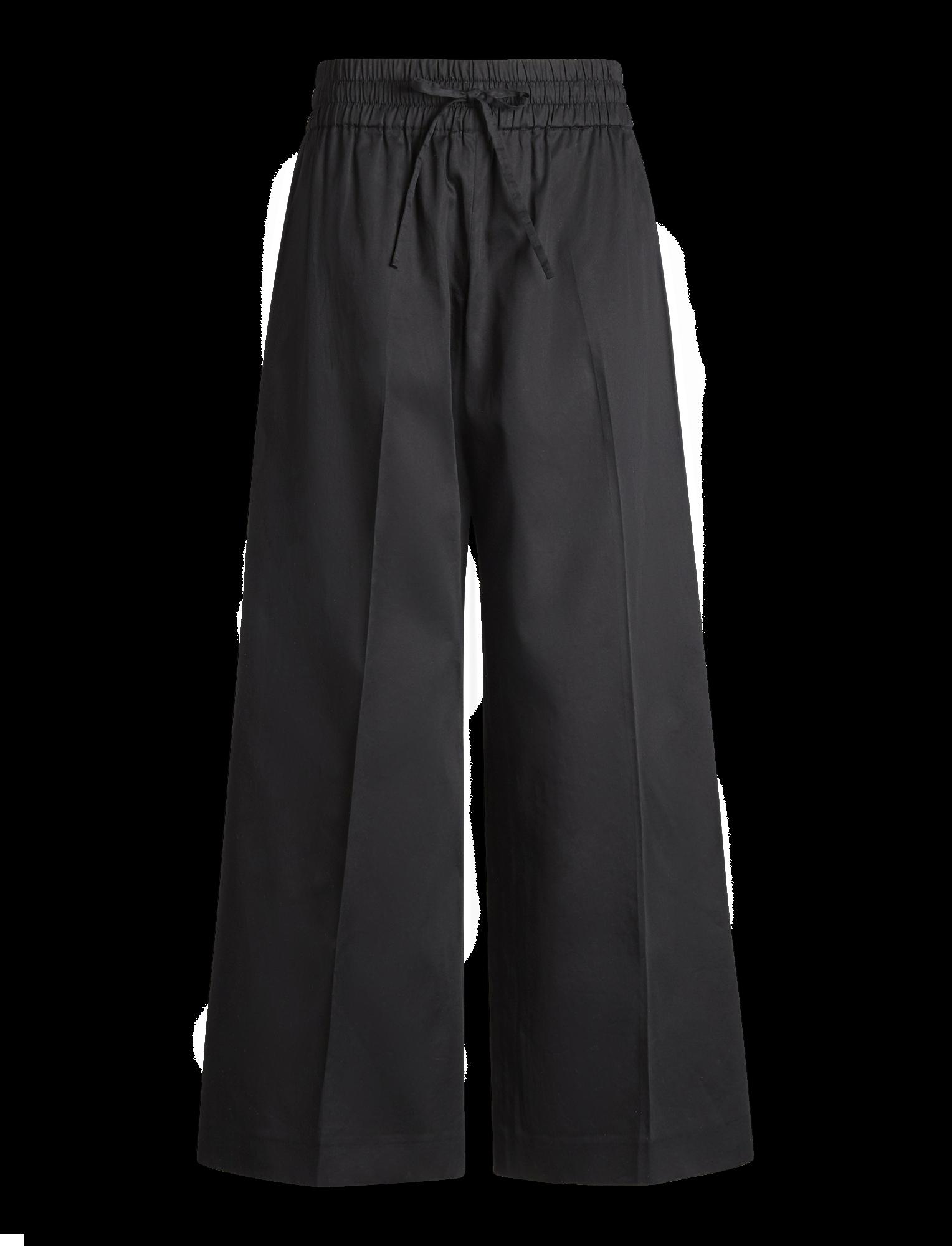 Joseph, Pantalon Dahlman en coton raffiné, in BLACK