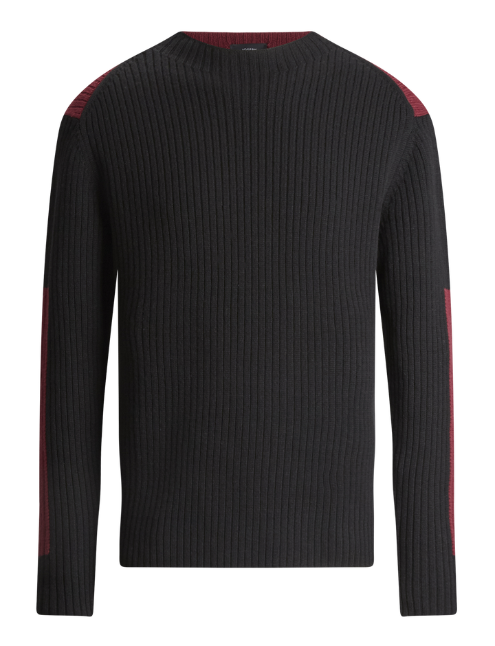Joseph, Rib Sweater Soft Wool Knitwear, in BLACK