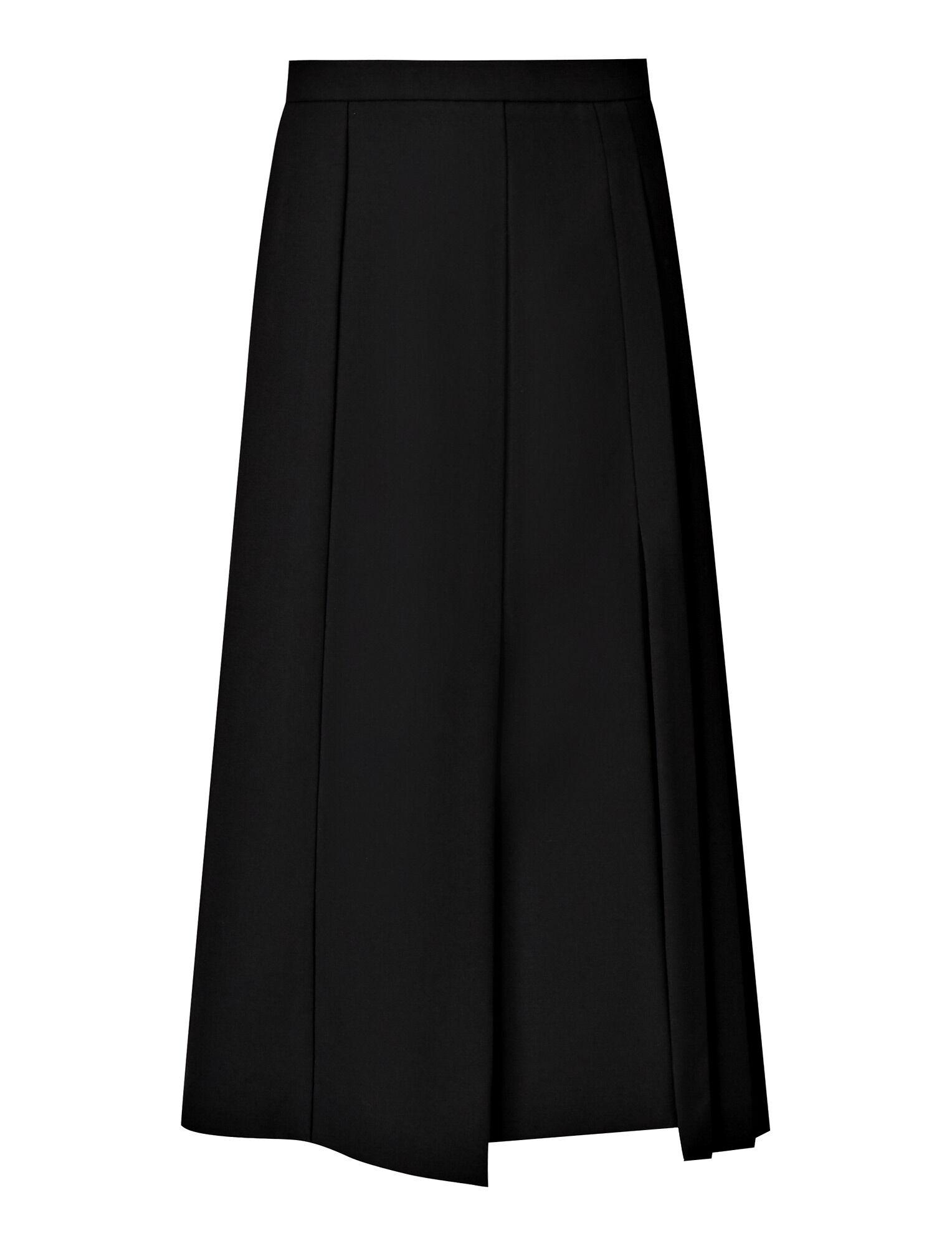 Joseph, Malvyn Wool Granite Skirt, in BLACK