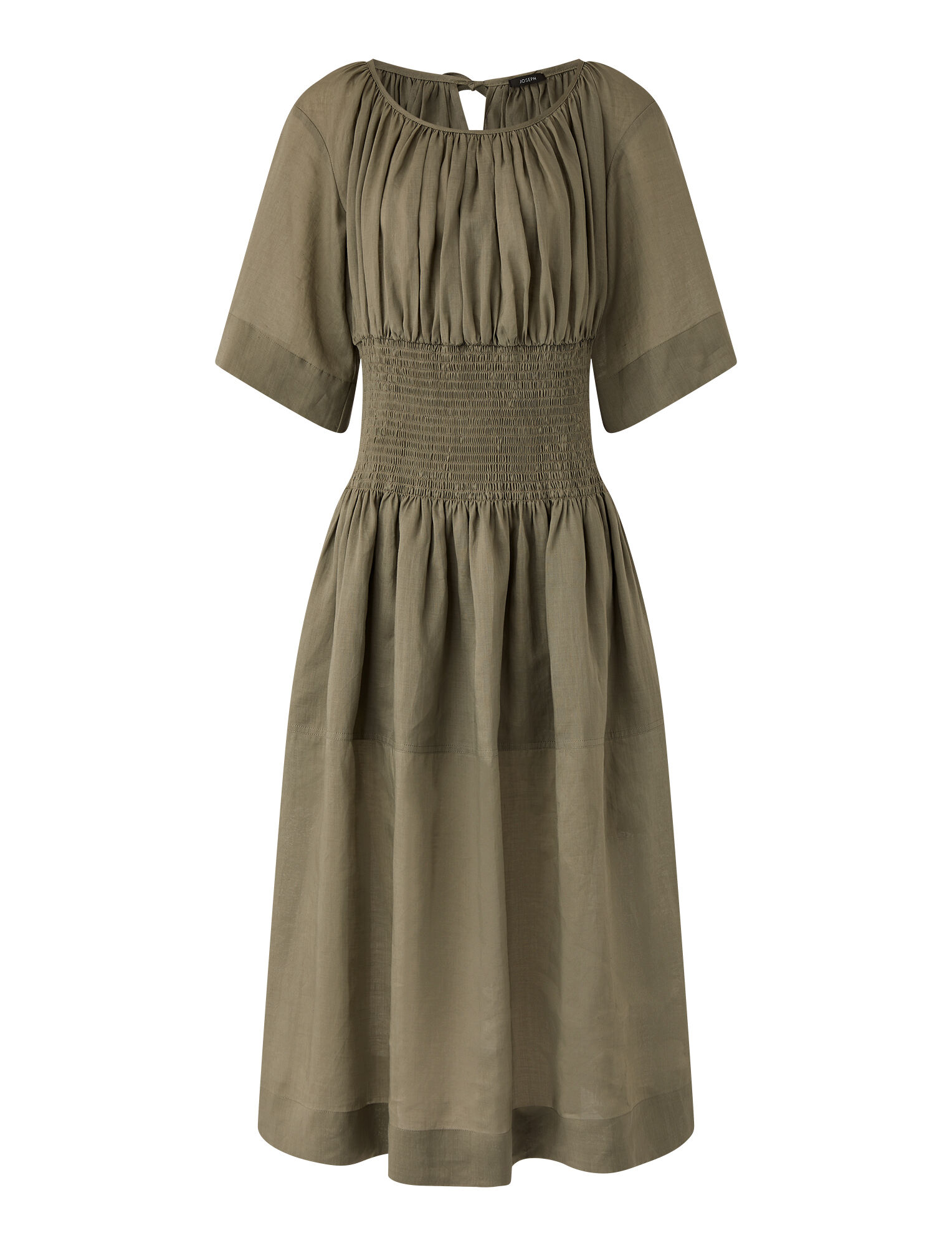 Joseph, Ramie Voile Daison Dress, in ARGIL