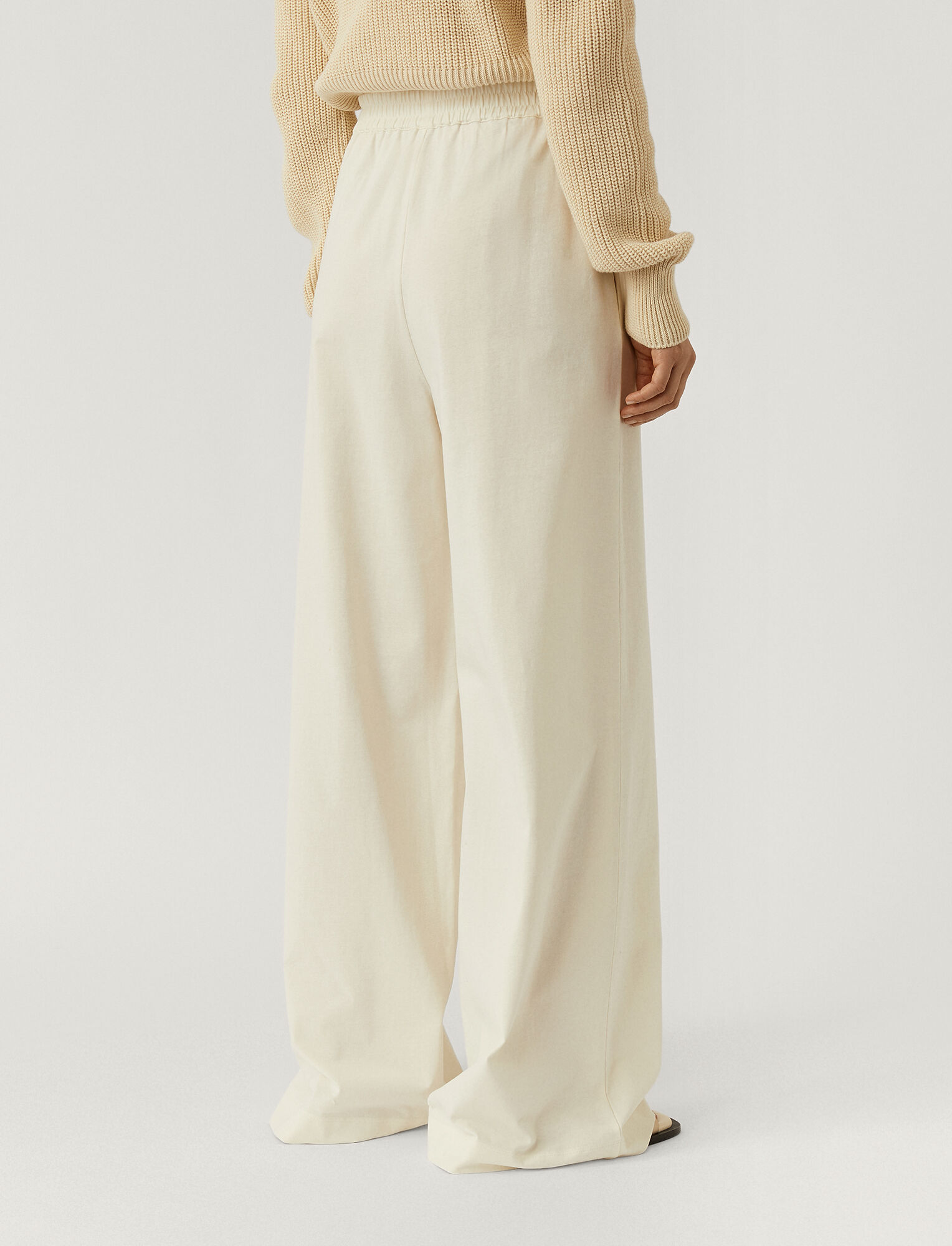 Joseph, Paper Jersey Trousers, in IVORY