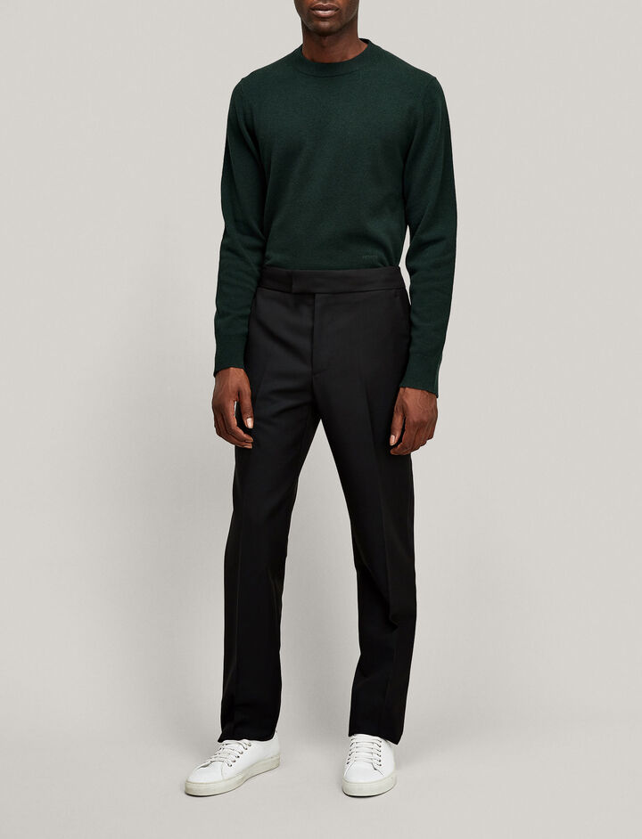 Joseph, Jack Tuxedo Wool Mohair Trousers, in BLACK