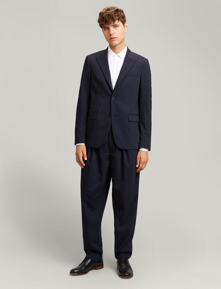 Joseph, Padstow Fine Comfort Wool Trousers, in NAVY