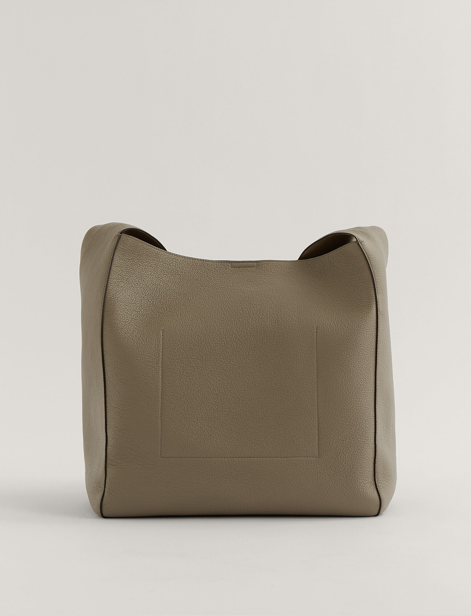 Joseph, Slouch XL Grain Leather Bag, in Grey