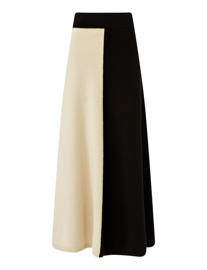 Joseph, Skirt-Soft Wool, in IVORY COMBO