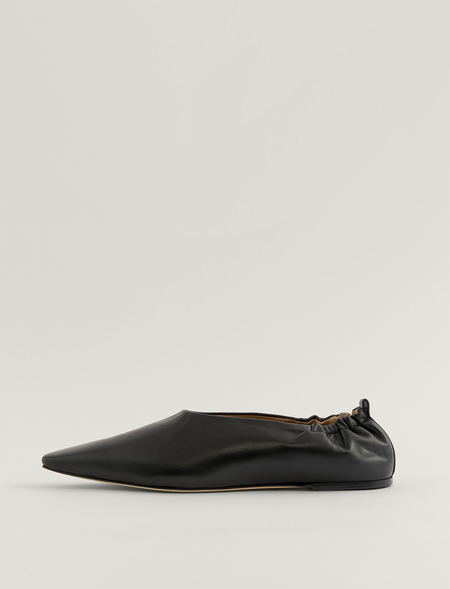 Joseph, Pointy Square Ballerina Shoes, in BLACK