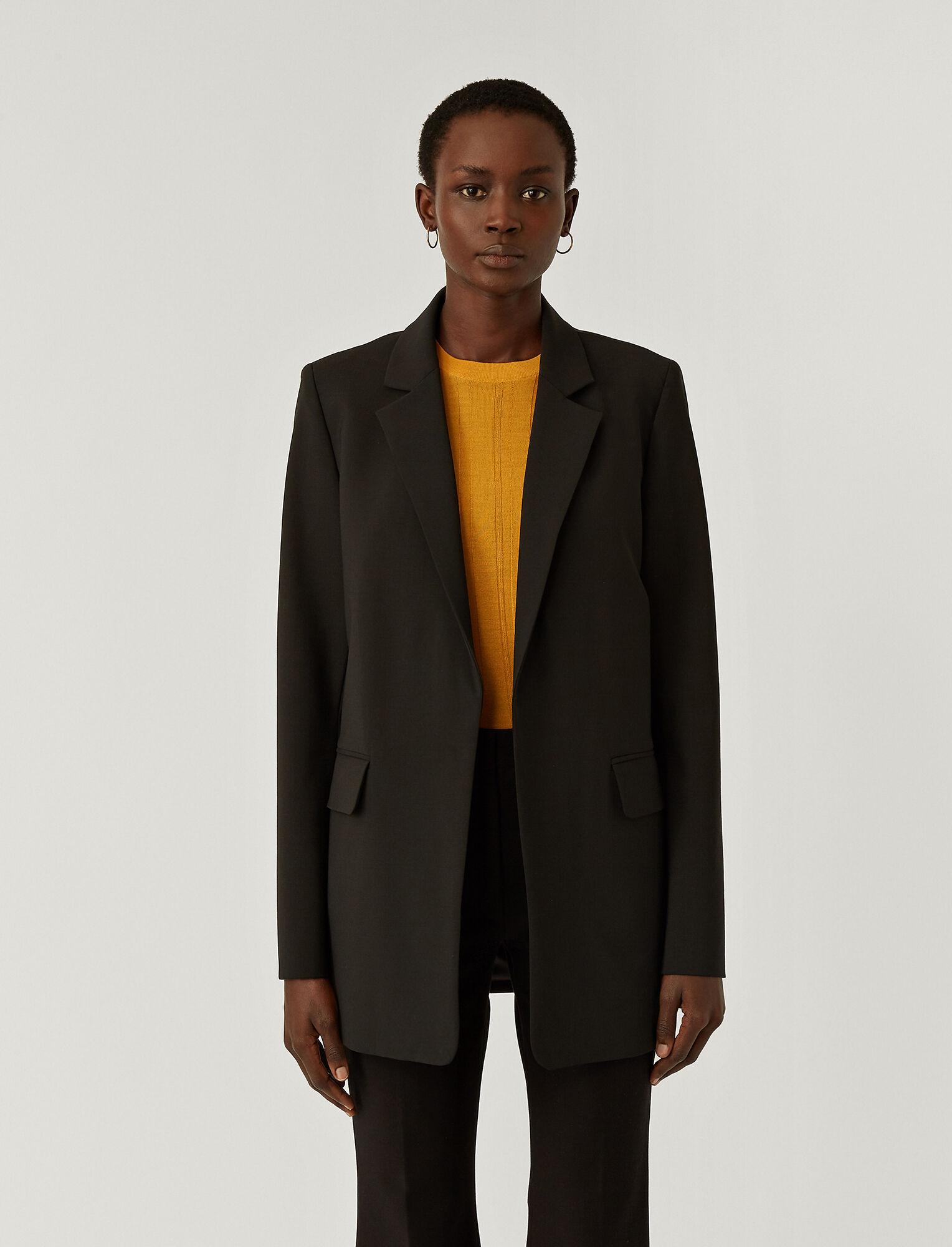 Joseph, Light Wool Suiting Joan Jacket, in BLACK
