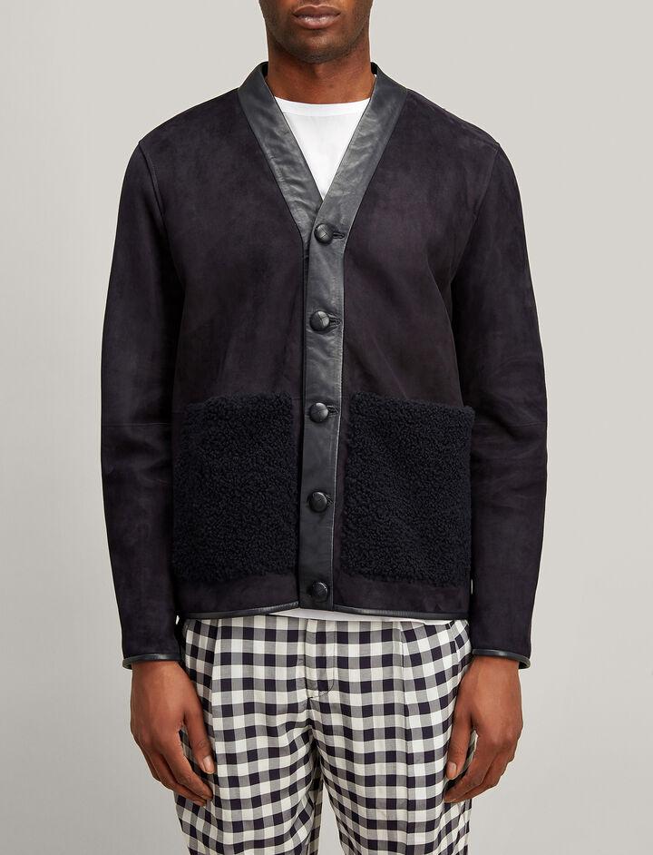 Joseph, Shearling Highland Jacket, in NAVY