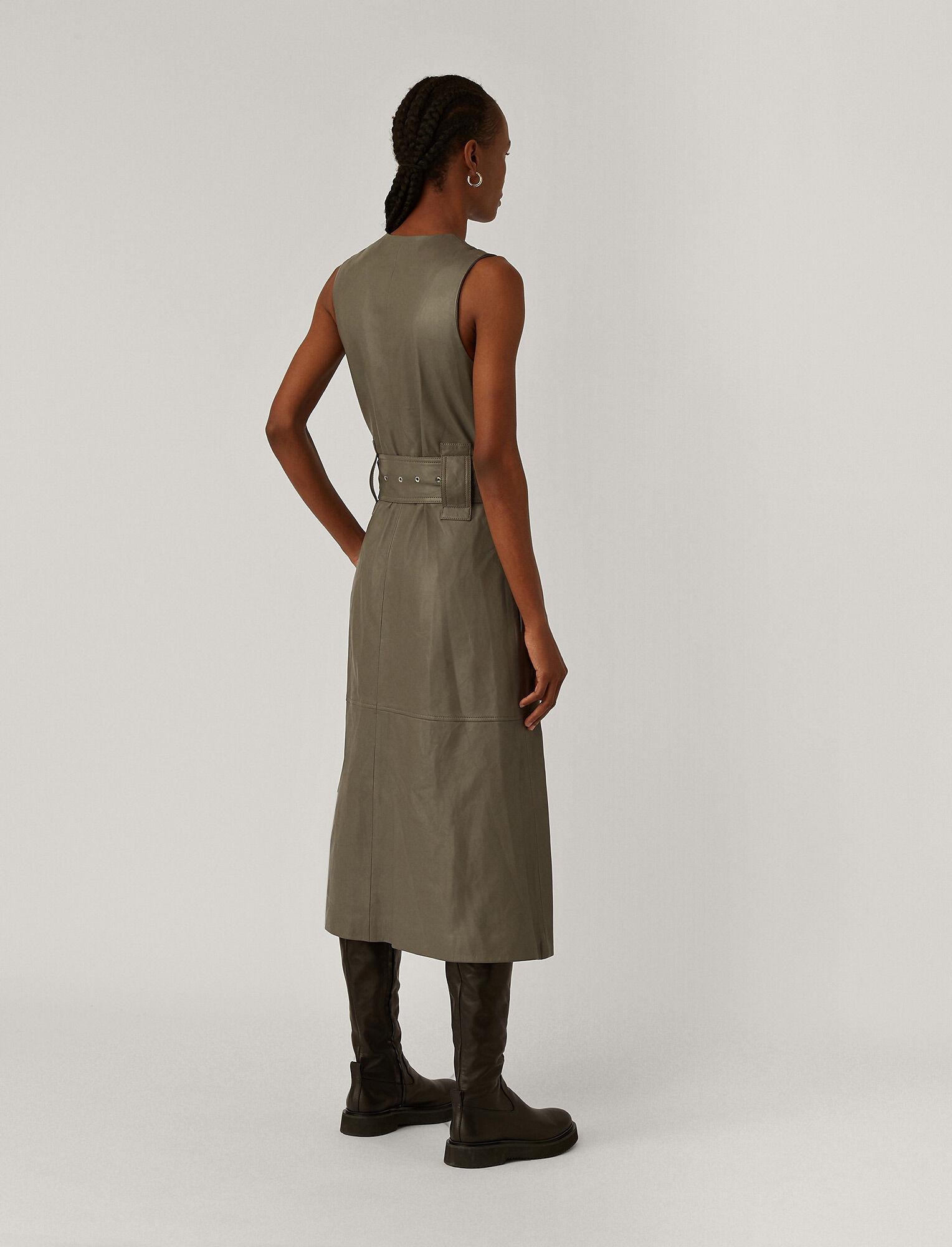 Joseph, Dibo Nappa Leather Dress, in Ash