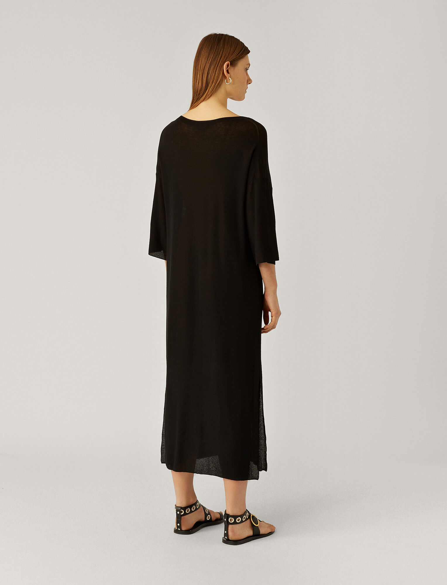 Joseph, Darline Sheer Cotton Dress, in BLACK