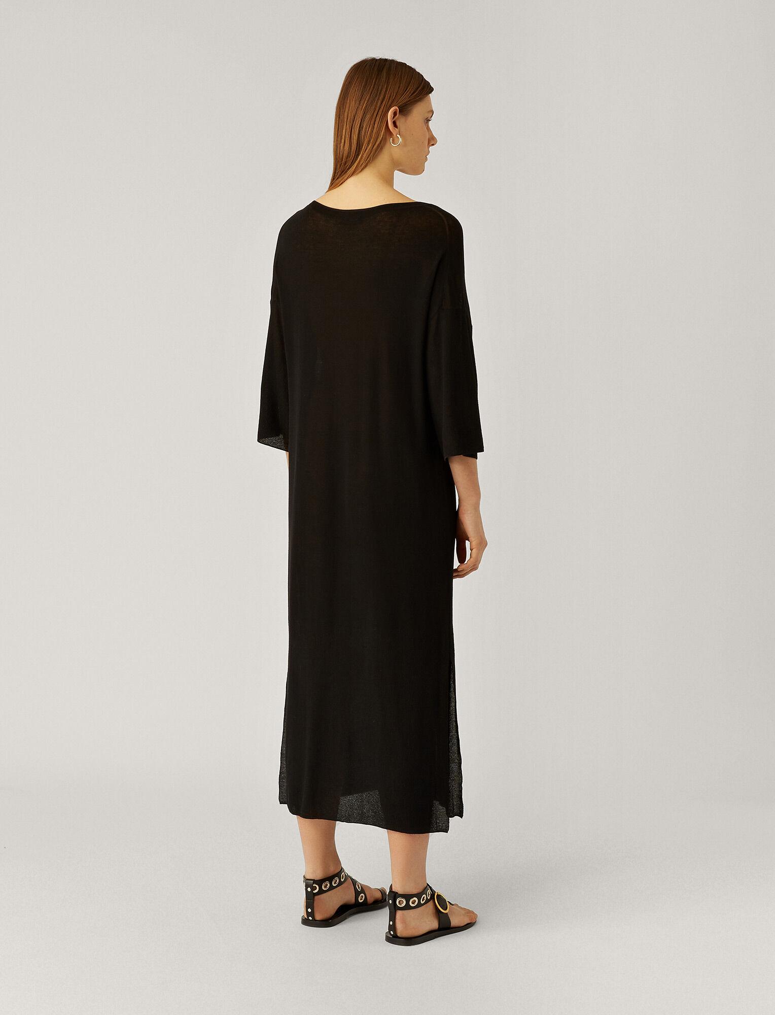 Joseph, Darline Sheer Cotton Dress, in BLACK